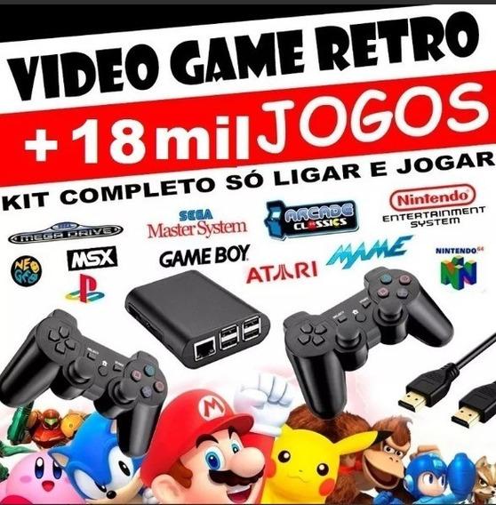 Raspberry Video Game Retro 18 Mil Jogos