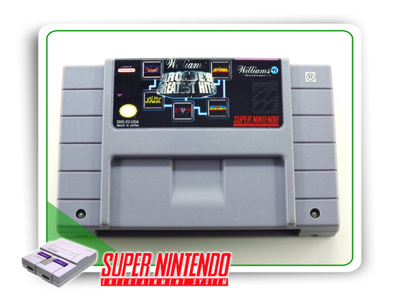 Williams Arcades Greatest Hits Original Snes Super Nintendo