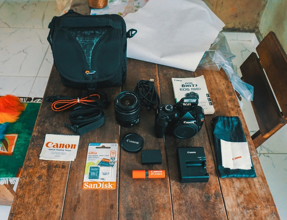 Canon T3 + Bolsa + Lente Kit + Cartão 16gb + Frete Gratis
