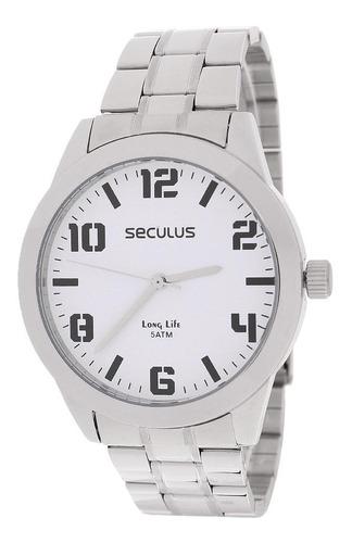 Relógio Masculino Prata Seculus 23458
