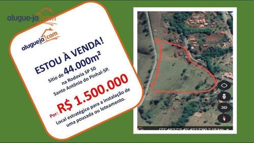 Sítio À Venda, 44000 M² Por R$ 1.500.000 - Rio Preto - Santo Antônio Do Pinhal/sp - Si0035