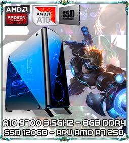 Cpu Pc Gamer A10 9700 Quad Core 3.5ghz 8gb Ddr4 Ssd 120gb007