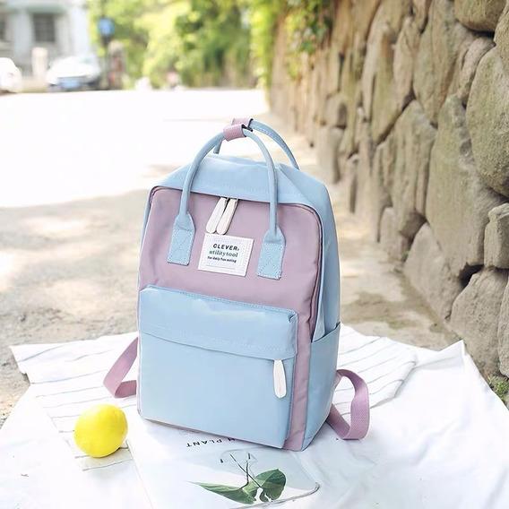 Mochila Backpack Escolar Impemeable Dama Est. Coreano 2019