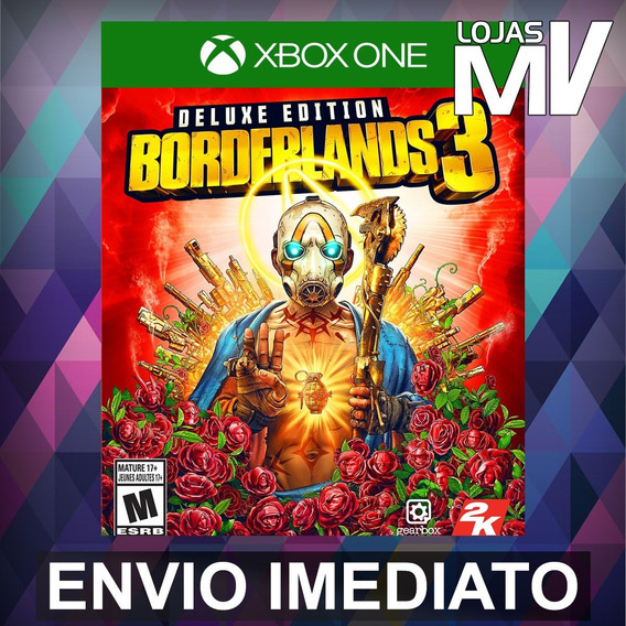 Borderlands 3 Deluxe Xbox One Código 25 Digitos