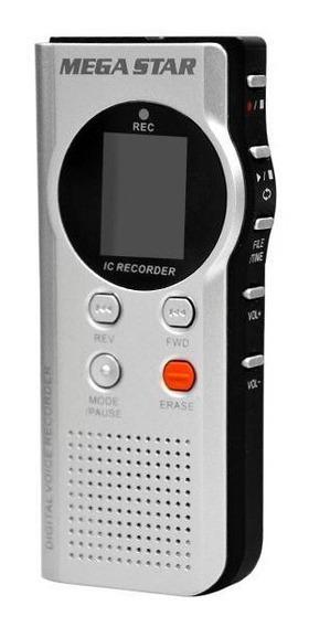 Gravador Digital De Voz Megastar Dvr-913 4gb Grava Até 540 H