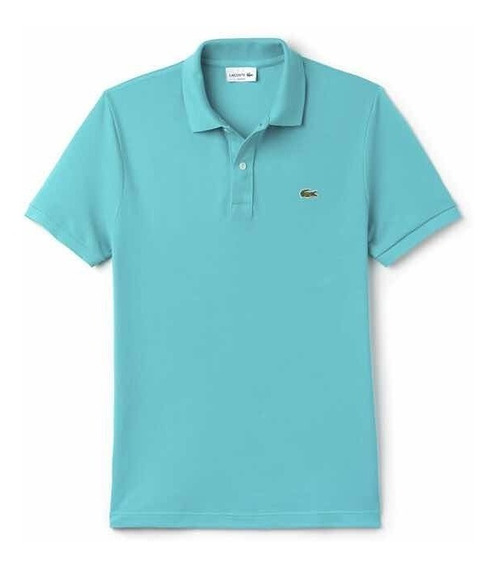 Polo Lacoste Corte Slim Fit Color Bermuda Manga Corta Nueva