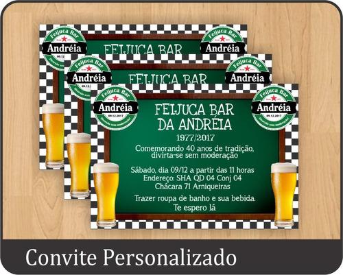 Imagem 1 de 1 de 20 Convites Personalizado Festa Boteco Chá Bar