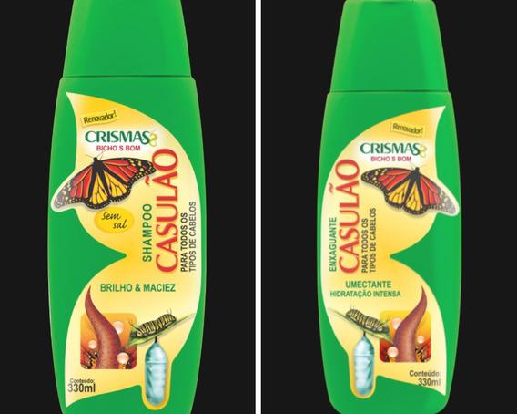 Casulao: Shampoo 330ml+condicionador 330ml+sem Enxague 950gr