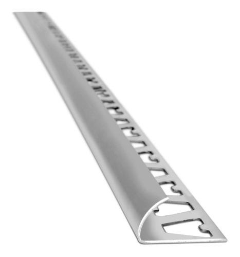 Imagen 1 de 3 de Guardacanto  Arco De Aluminio Cromo 1383 Mate 10mm X 2,50