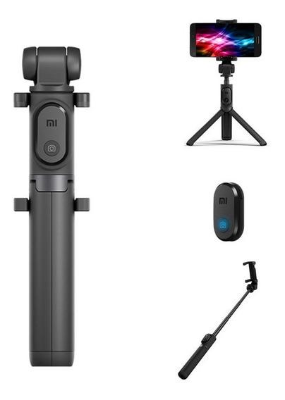 Selfie Stick Xiaomi Bluetooth Remote Obturador Tripé Bastão Portátil