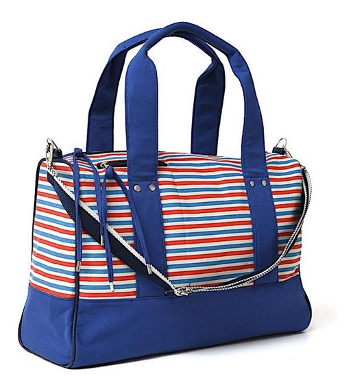 Bolso Deportivo / Maternal Luxury Matriona - Azul-rojo-blanc