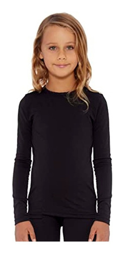 Camiseta Remera Termica Para Niños Manga Larga Frisada