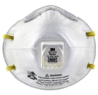 Respirador 3m 8210v N95 Con Válvula Para Partículas