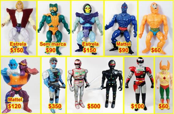 Bonecos Antigos Jaspion,soulbrain,sos Comando,he-man,gi-joe