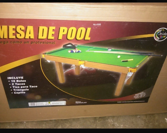 Mesa Pool Grande Jeidy Toys Profesional Juegos