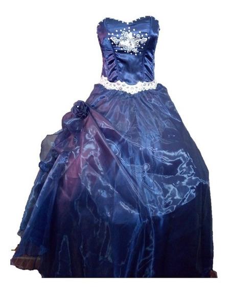 Vestido De Xv Años Azul Marino Economico