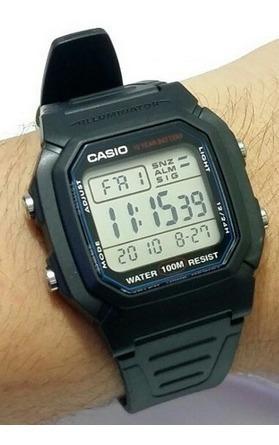 Relogio Casio Illuminator W-800h-1av Original Na Caixa W800