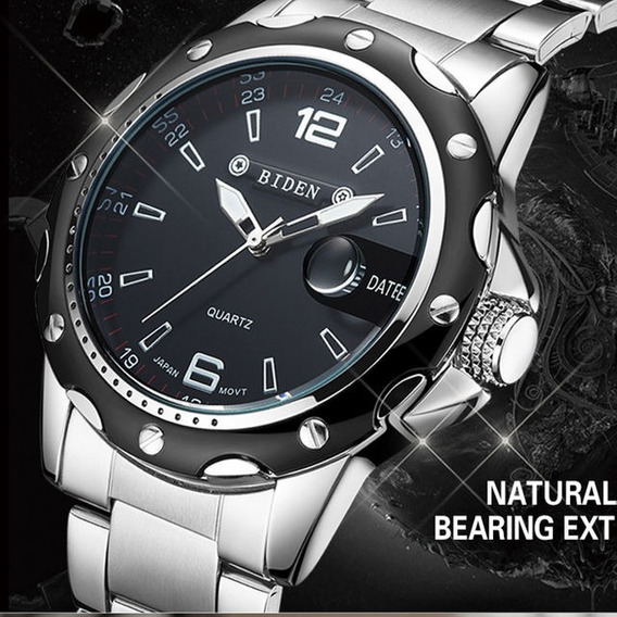 Relógio Masculino Prata - Biden - Quartz - Pulseira De Aço