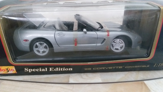 Miniatura Em Escala 1/18 Do 1998 Corvette