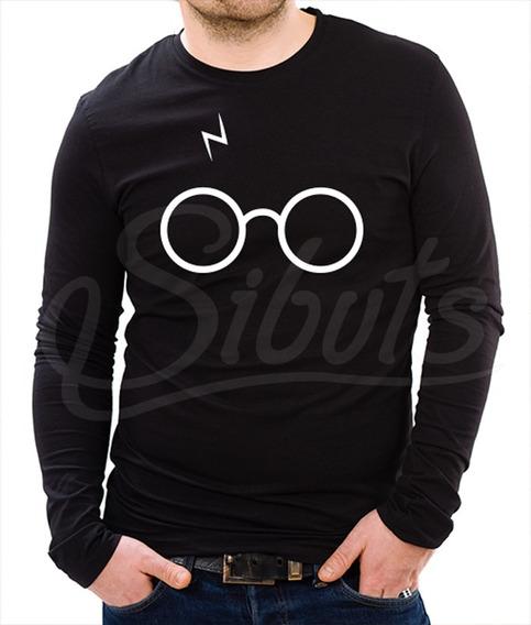 Playera Hombre Manga Larga Harry Potter