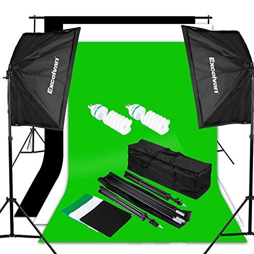 Pantalla Excelvan Photography Video Studio Lighting Kit 1250