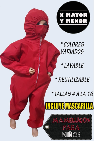 Mamelucos Protección / Taslan Impermeable Niños / Mascarilla