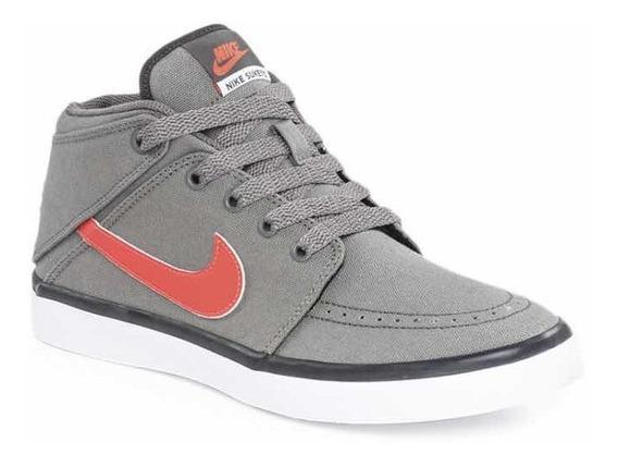 Zapatilla Gris Nike Suketo Mid Canvas