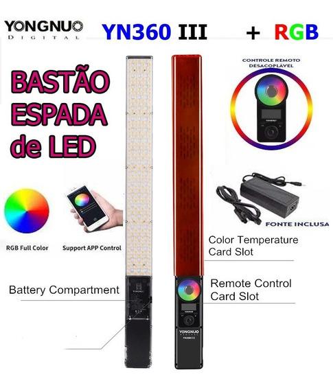 Bastão Led Yongnuo Yn-360 Iii + Fonte De Energia