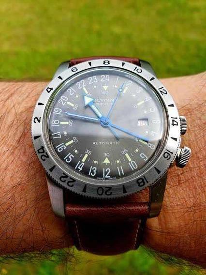Relógio Glycine Suíço Airman Automático 40mm The Chief Gmt