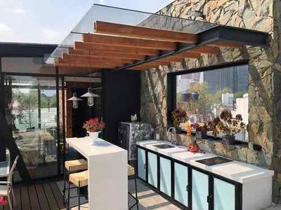 Penthouse Amueblado En Renta Con Terraza Colonia Anzures
