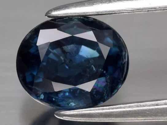 Safira Natural 0.90 Cts, Blue. Certificado Glc.