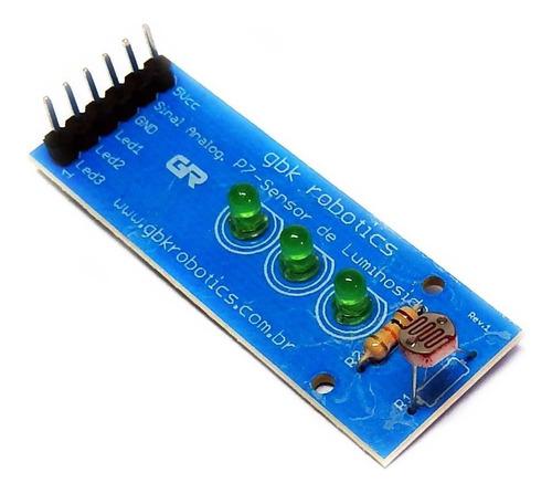 Imagem 1 de 1 de Modulo Sensor De Luz C/ Led P7 002760 Gbk Robotics Arduino