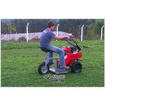 Trator Cortador De Grama Com Roçadeira Para Motocultivador