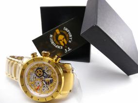 Lindo Relógio Dourado Bvlgari Novo