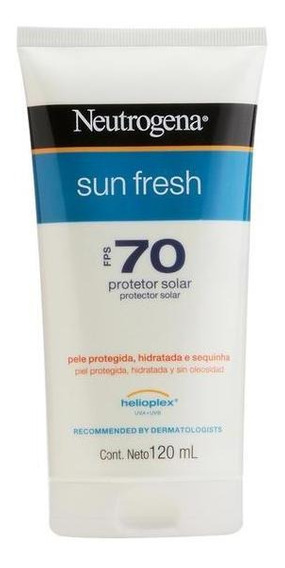 Protetor Solar Neutrogena Sun Fresh Corpo Fps 70 120ml