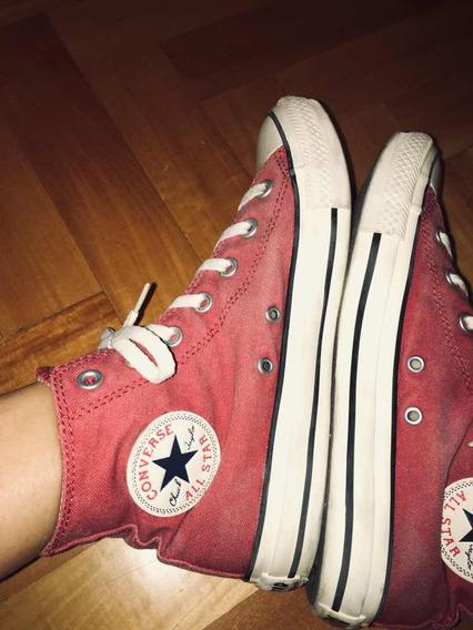 Zapatillas Converse Botita Color Bordo/rojo Talle 38/39