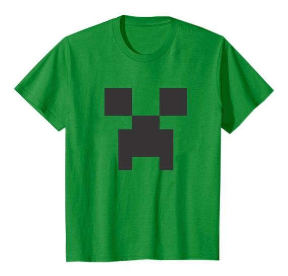 Remeras Minecraft Niños Algodon 100% Calidad