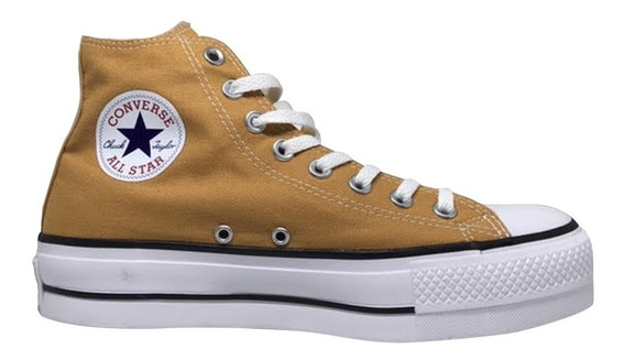 Tênis Converse Chuck Taylor All Star Platform Hi - Mostarda