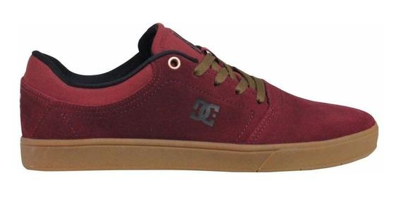 Tênis Dc Shoes Crisis La Vinho Camurça Original