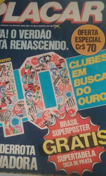 Revista Placar N 557 Com.poster Capa Está Solta