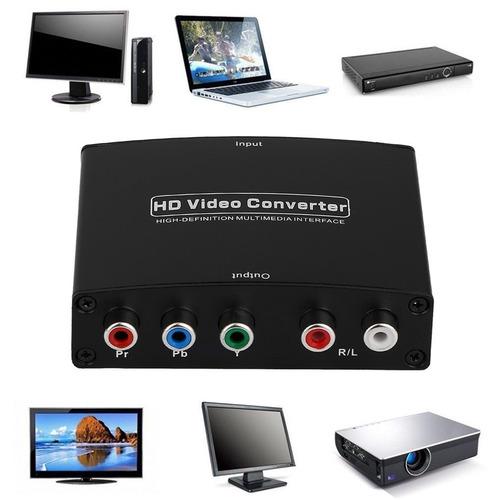 Hdmi A Componente Rgb (ypbpr) Vídeo + R / L Adaptador Audio