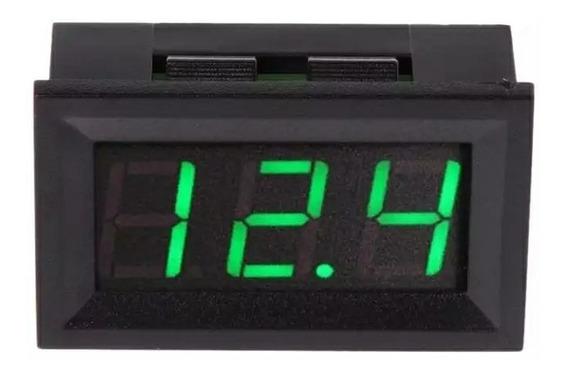 Voltímetro Medidor Tensão Bateria Dc 12/24v P/ Som Carro