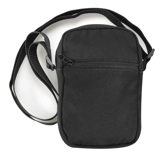 Shoulder Bag Preta Bolsa Ombro Tecido Nylon 600 Toda Reforç