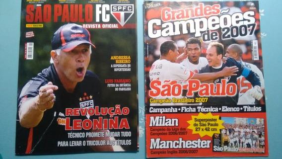 Lote (6 Revistas + 3 Posteres) Time São Paulo