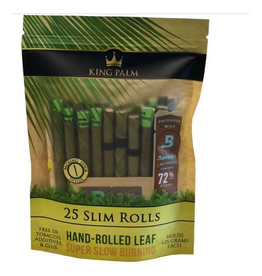 King Palm Slim 25 Blunts Prerolados Orgánicos Filtro De Maíz