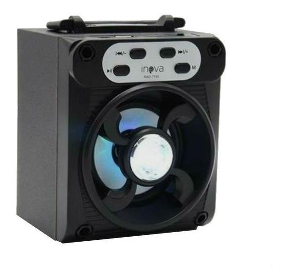 Caixa De Som Portátil Bluetooth Inova Preto Rad-7150