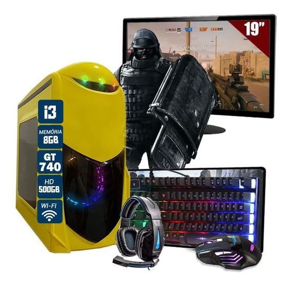 Pc Gamer Hector I3 R7 240 8gb Hd 500gb + Ssd 240gb + Jogos
