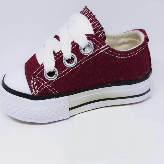 Zapatillas De Lona Tipo Converse Bebés Y Niños Caminantes