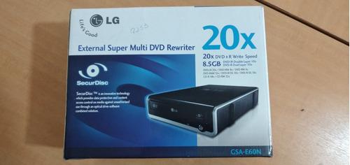 Gravador Externo De Cd Dvd LG Gsa-e60n Usado