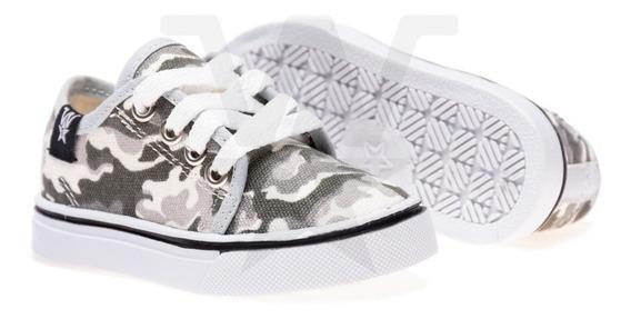 Zapatillas De Lona Para Bebes Camuflada, Talles Del 17 Al 26